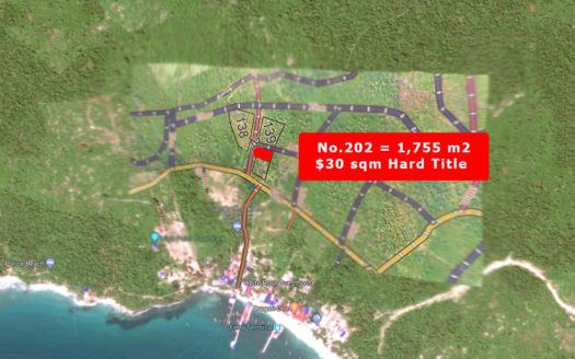 Prime Koh Touch Sea View land, HARD TITLE $60,000